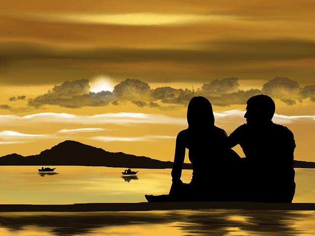 Liebe, Paar am See