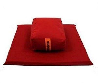 Meditationskissen rechteckig mit Matte (Set)