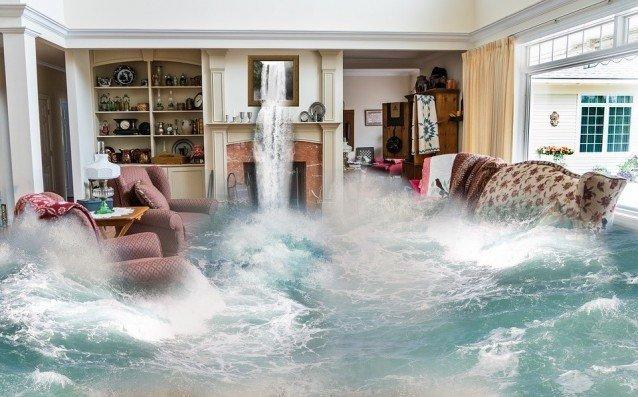 Traum - Flut im Wohnzimmer